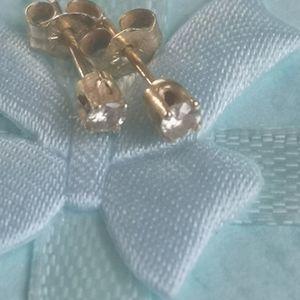 14k real diamond studs